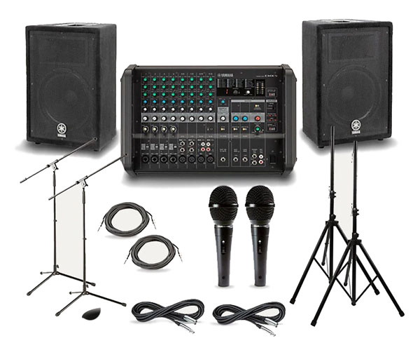 PA/Sound System: 8 Channel Mixer Setup