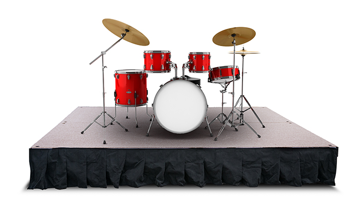 4' x 8' x (variable height) Drum Riser
