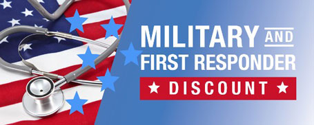 military and first responder discounts